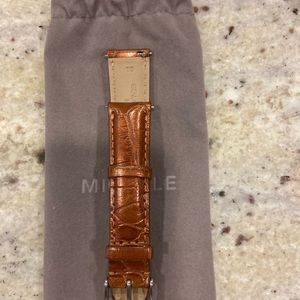 Michele leather watch strap (18mm)